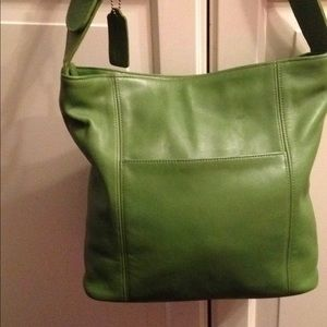 COACH Apple Green Buckle Bag